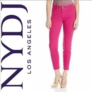 NYDJ Coral Pink Ankle Skinny Jeans. Size 14